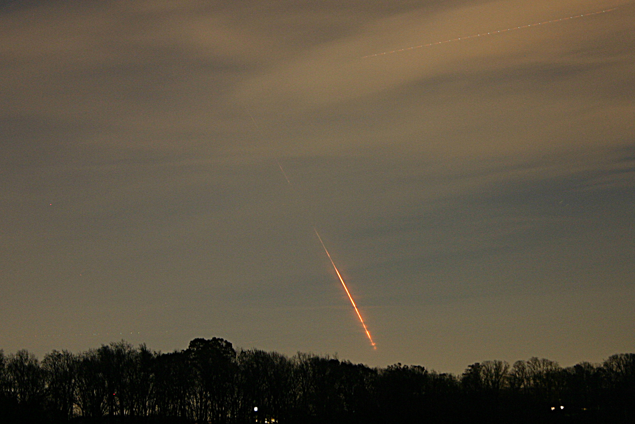 Minotaur 1 viewed from New Windsor, Maryland